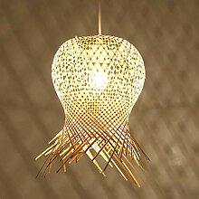 NZDY Lampe À Suspension En Bambou Tissé À La