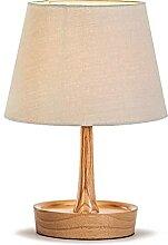 NZDY Lampe de Bureau Décoratif En Bois Tissu