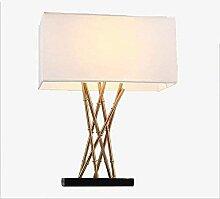 NZDY Lampe de Bureau Décorative En Fer Forgé
