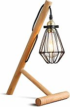 NZDY Lampe de Bureau Moderne Support Simple Bois