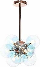 NZDY Lampe de Lustre En Or Rose Nordique 9 Têtes