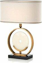 NZDY Lampe de table Lampe de table en marbre Lampe