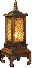 NZDY Lampe de Table Rétro En Bois Massif,