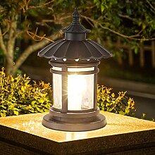 NZDY Lanterne de Colonne Rétro Traditionnelle En