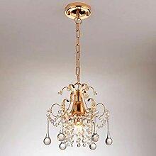 NZDY Lustre En Cristal Doré Plafond Lampe En