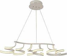 NZDY Lustre LED de table à manger en aluminium et