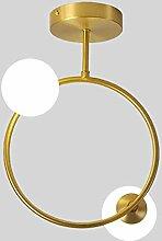 NZDY Plafonnier Boule de Verre Moderne de Lumière