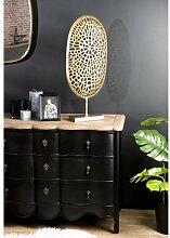 Objet de décoration à poser en aluminium doré -