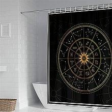 Oduo Rideau de Douche 3D Constellation Imprimé