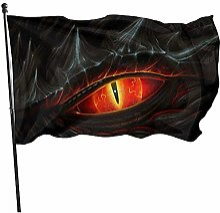 Oeil de drapeau noir durable drapeau fanion