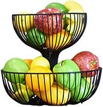 OH Panier de Fruits Porte-Bol En Fer Forgé