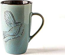 Oiseaux Motif Céramique Tasses Tasse À Café