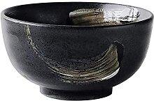 okuya Japonais Rétro Céramique Noire Vaisselle