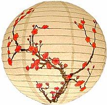 OKwife 30cm Rond Papier Lanterne Abat-Jour Style