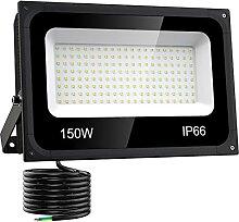 Olafus 150W Projecteur LED Extérieur,15000LM