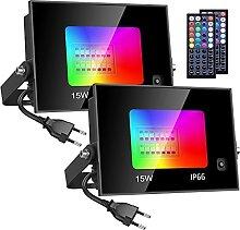 Olafus 2 Projecteur LED RGB 15W, 20 Couleurs 4