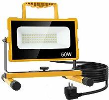 Olafus 50W Projecteur Chantier LED Ultra-Lumineux