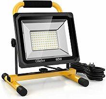 Olafus 60W 6000LM Projecteur LED Chantier, 5000K