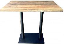 OLDWOOD - Table haute avec plateau effet bois