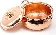 OMKMNOE Marmite à soupe en cuivre, fabriquée à
