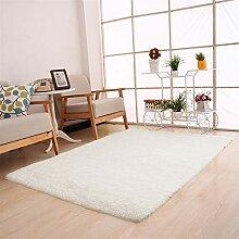 Ommda Tapis Salon Design Moderne Poil Long Lavable