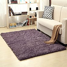 Ommda Tapis Salon Shaggy a Poil Long Design