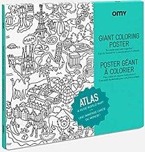 OMY - Poster Géant à Colorier Atlas - 100 cm x