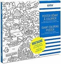 OMY - Poster Géant à Colorier Bretagne - 100 cm