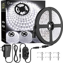 Onforu 5M Ruban LED Dimmable, 5000K Blanc Froid