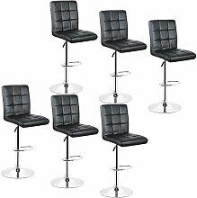 Oobest - 6x Tabourets de bar fauteuil chaise en
