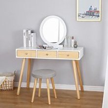 OOBEST® Coiffeuse Moderne, Table de Maquillage