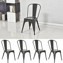 Oobest - Lot de 4 chaises de salle à manger