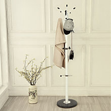 Oobest - Porte Manteaux Perroquet Blanc avec Socle