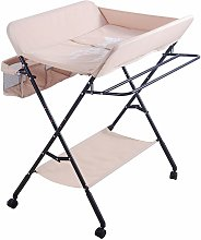 Oobest - Table à langer portable pliable rose -