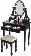 OOBEST® Table de Maquillage Coiffeuse avec Miroir