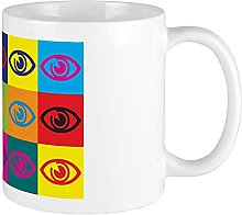 Optometry Mug Pop Art Blanc
