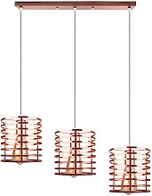 Or rose Suspension industrielle Cylindre Style