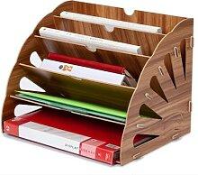 Organisateur de bureau en bois couleur, DIY,