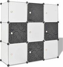 Organisateur de rangement cube avec 9