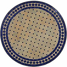 Oriental mosaïque Table Ø 70 cm Bleu Casa Moro