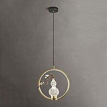 ORNAAA Suspension Moderne LED Abat-Jour en Verre