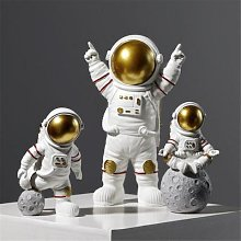 Ornements d'astronautes Miniatures en résine,