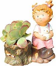 Ornements de jardin Pot de plantes succulentes