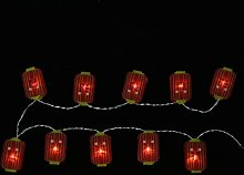 OSALADI 1 Set Nouvel An Guirlande Lumineuse Rouge