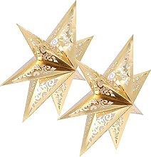 OSALADI 2Pcs De Noël Papier Étoiles Abat- Jour