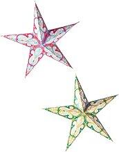 OSALADI 2Pcs Papier Lanternes Étoiles Abat- Jour