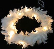OSALADI Blanc Plume Guirlande Guirlande De Noël
