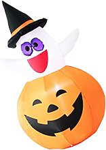 OSALADI Halloween Gonflable Citrouille Fantôme