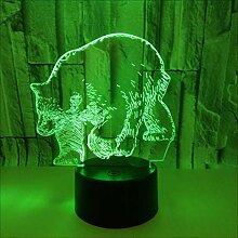 OSALADI Veilleuse en Acrylique Lampe de Bureau