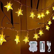 Othran Guirlande lumineuse étoiles 10 m 100 LED